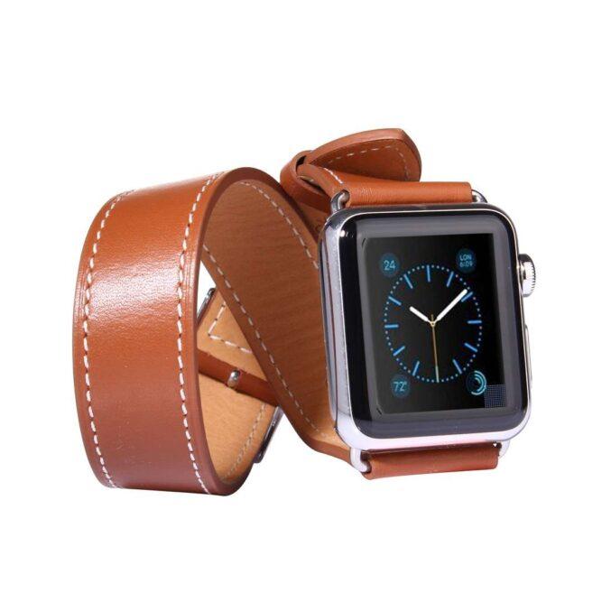 Dobbel reim, Apple watch (brun) 42mm