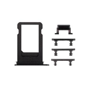 iPhone 7 Side Buttons Set with SIM Tray - Black