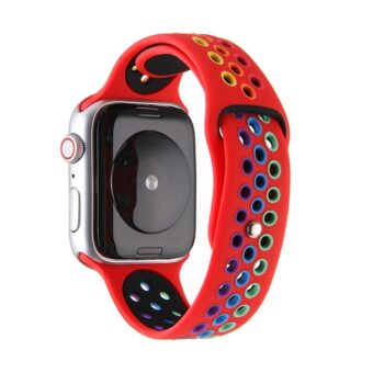 Regnbue sportsreim med hull for Apple Watch 38/40mm